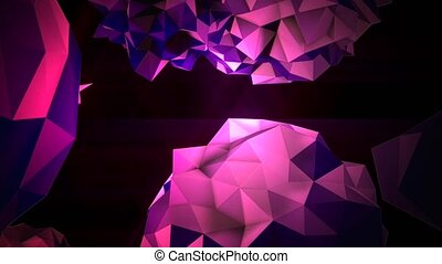Animation abstract purple liquid orb in cosmos, black background