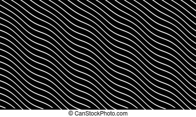 Animation abstraction of curved lines in dynamic wave motion