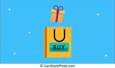 animation, achats, sac don, marché
