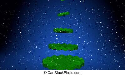animation., arbre, noël