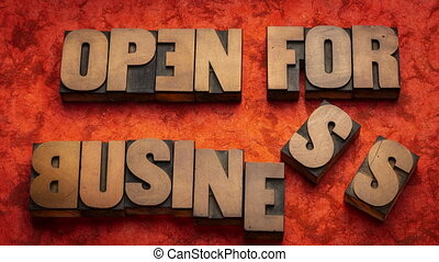animation, arrêt, business, mouvement, -, ouvert