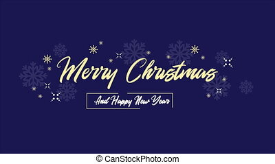 Animation background firework for Merry Christmas collection