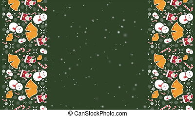 Animation background for Merry Christmas and Happy New Year