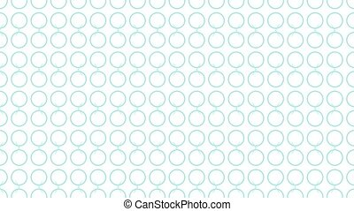 Animation background with enlarge circle and moving lines. White and blue