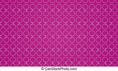 Animation background with enlarge circle and moving lines. Pink and blue