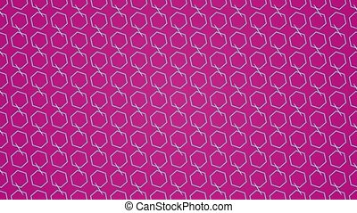 Animation background with hexagon and lines - Animation...