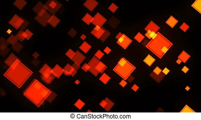 Animation background with squares. Digital 3d rendering...