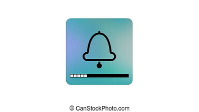 animation bell icon with a volume scale.