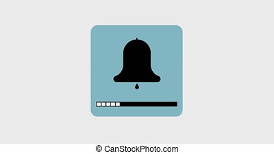 animation bell icon with a volume scale. Footage with alpha...