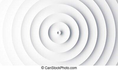 animation, blanc, vagues, circulaire, gabarit, résumé