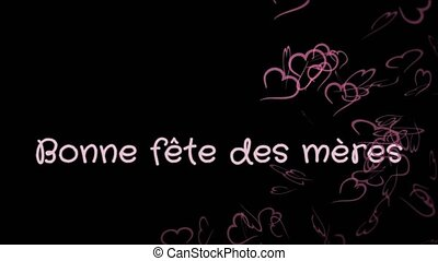 Animation Bonne fete des meres, Happy Mother's day in french...