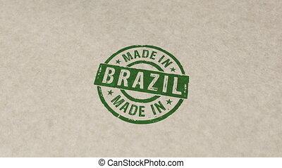 animation, brésil, timbre, compostage, fait