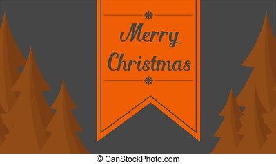 Animation Christmas with fir style