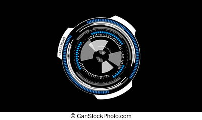 Animation circle rotation HUD Head up display interface for...