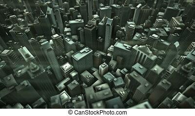 animation., city., métropolitain, boucle