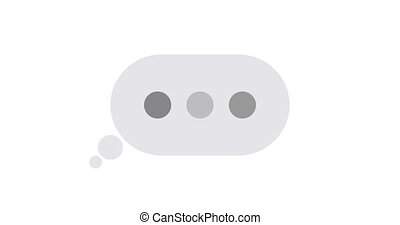 animation concept text message with alpha matte. - animation...