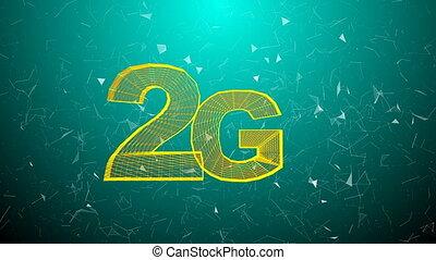 animation., connectivité, ordinateur a engendré, 5g, technologie