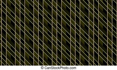 Animation consisting of intersected colored stripes.
