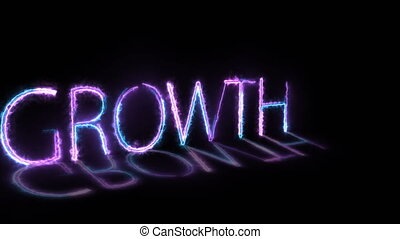 Animation depicting the concept of business growth