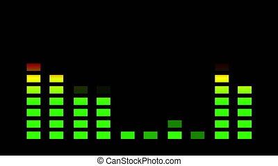 """Animation, equalizer stereo display bar, 4K"""