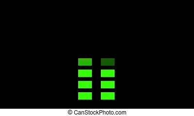 Animation, equalizer stereo display bar, 4K