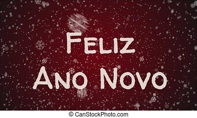 Animation Feliz Ano Novo - Happy New Year in portuguese...