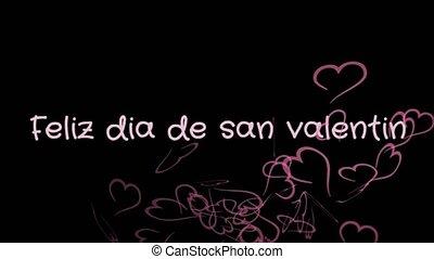 Animation Feliz dia de san Valentin, Happy Valentine's day...