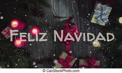 Animation Feliz Navidad - Merry Christmas in portuguese,...