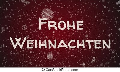 Animation Frohe Weihnachten.Merry Christmas 3d Text Looping Animation In German Language Frohe