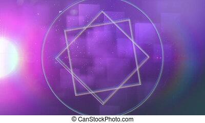 animation, géométrique, rose, formes, fond