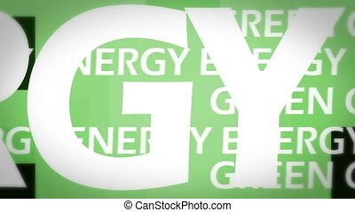 animation, grün, energie