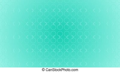 Animation gradient background with enlarge circle and moving lines. Blue and white