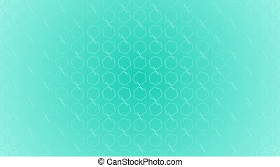 Animation gradient background with hexagon and lines -...