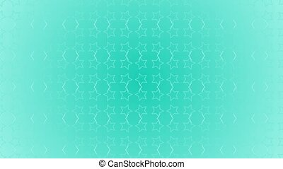 Animation gradient background with enlarge rotating stars and moving lines. Blue and light blue