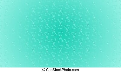 Animation gradient background with enlarge rotating triangle and moving lines. Blue and light blue