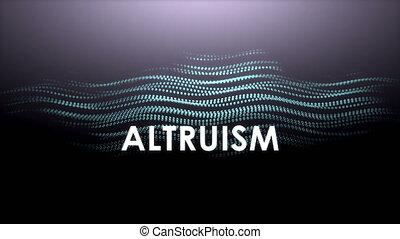 "animation, ""graphic, altruism."", texte"