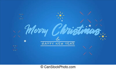Animation greeting background merry christmas and happy new year