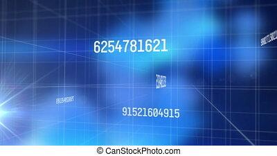 animation, grille, changer, contre, nombres, traitement, données