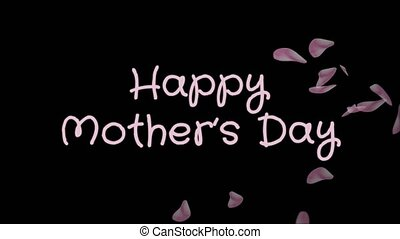 Animation Happy Mother's day, greeting card