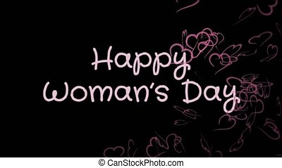 Animation Happy Woman's day, greeting card