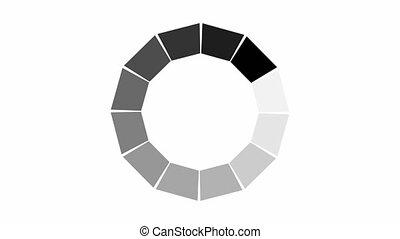 animation, icône, fond, cercle, blanc, chargement