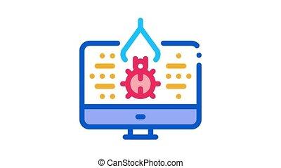animation, icône, programme, bogue, réparation