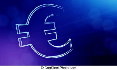 Animation icon or emblem of Euro Logo. Background made of...
