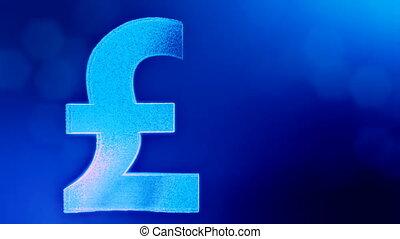 Animation icon or emblem of GBR Logo or pound.. Background...