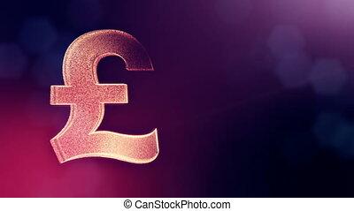 Animation icon or emblem of GBR Logo or pound. Background...