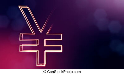 Animation icon or emblem of Japanese yen Logo. Background...