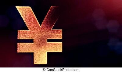 Animation icon or emblem of Japanese yen Logo. Background...