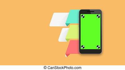 infographics mobile phone - animation infographics mobile...