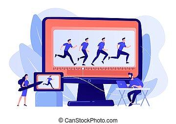 animation, informatique, vecteur, concept, illustration