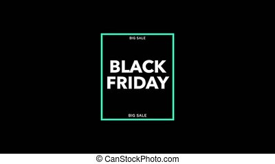Animation intro text Black Friday on black fashion and ...